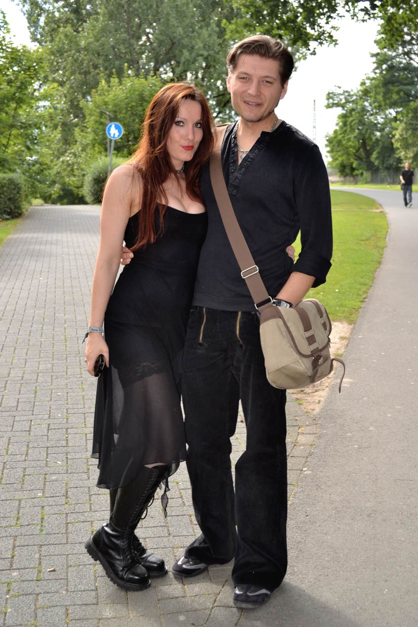 Verena and Viktor at Amphi Festival, Cologne 2012
