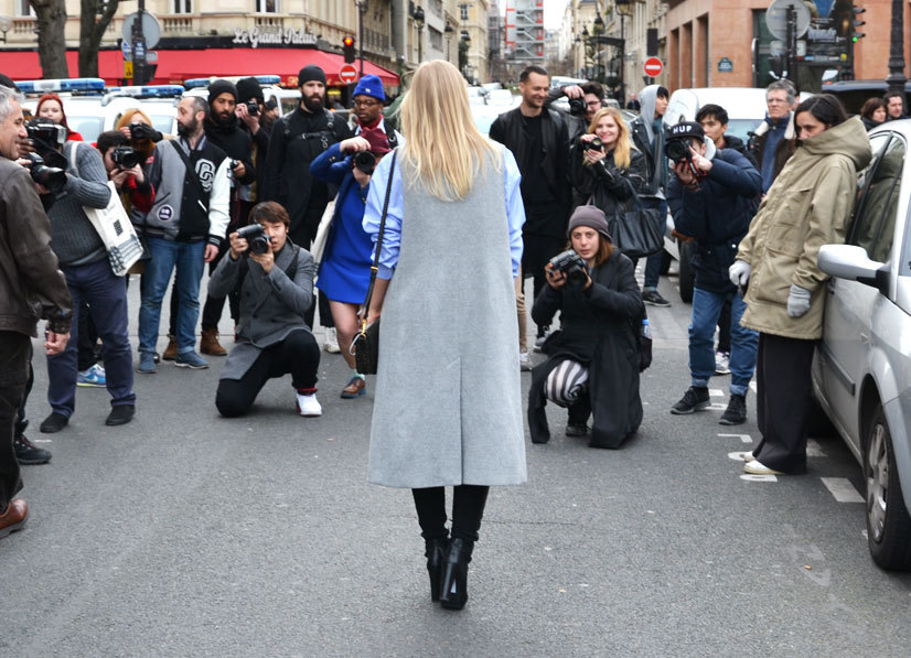 Fashionista and the photographers on Avenue du Général Eisenhower, Paris 2014, This Is Hype - We hate Fashion, but we love the People who wear it!
