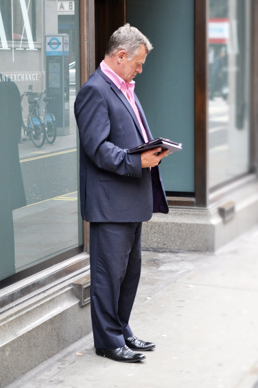 The iPad Man on Little Argyll Street, London 2013, Street Hype // London iPad Man