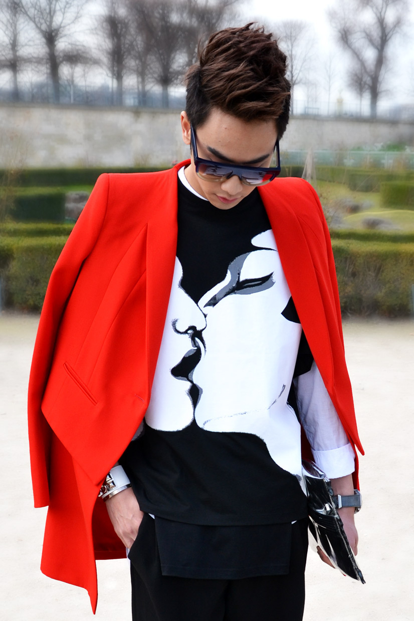 Brian Khoo in the Tuileries Garden, Paris 2013, Street Hpye // Paris Brian, Paris Fashion Week AW/2013 2014