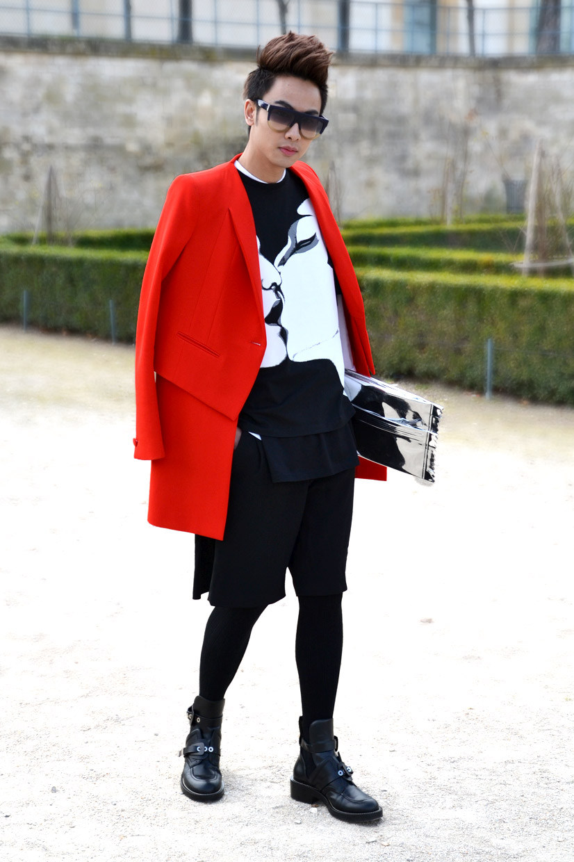 Brian Khoo in the Tuileries Garden 2, Paris 2013, Street Hpye // Paris Brian, Paris Fashion Week AW/2013 2014