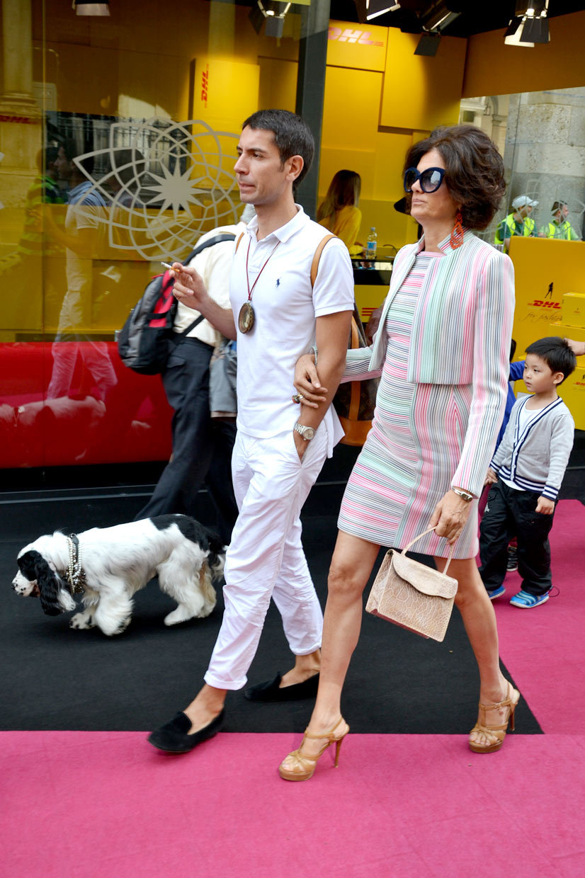 Magic Couple with Cocker Spaniel on Via dei Mercanti, Milan 2014, This Is Hype - We hate Fashion, but we love the People who wear it!