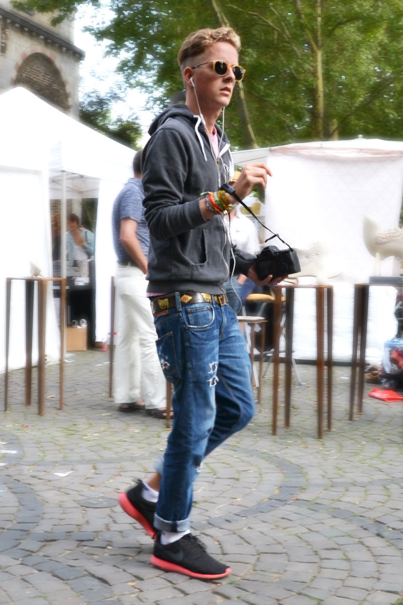 The denim boy on Mittelstraße, Cologne 2013, Street Hype // Cologne The Denim Boy, This Is Hype 2013
