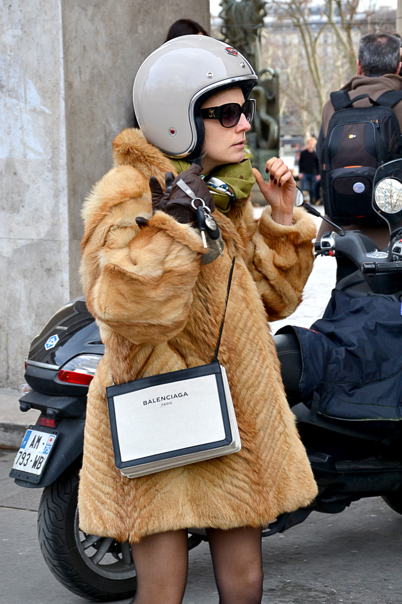 Fur Girl on Avenue du Président Wilson 1, Paris, 2016 - This Is Hype, We hate Fashion, but we love the People who wear it!