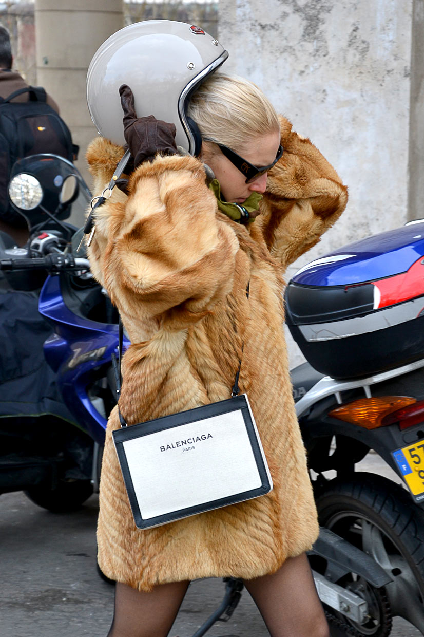 Fur Girl on Avenue du Président Wilson 2, Paris, 2016 - This Is Hype, We hate Fashion, but we love the People who wear it!