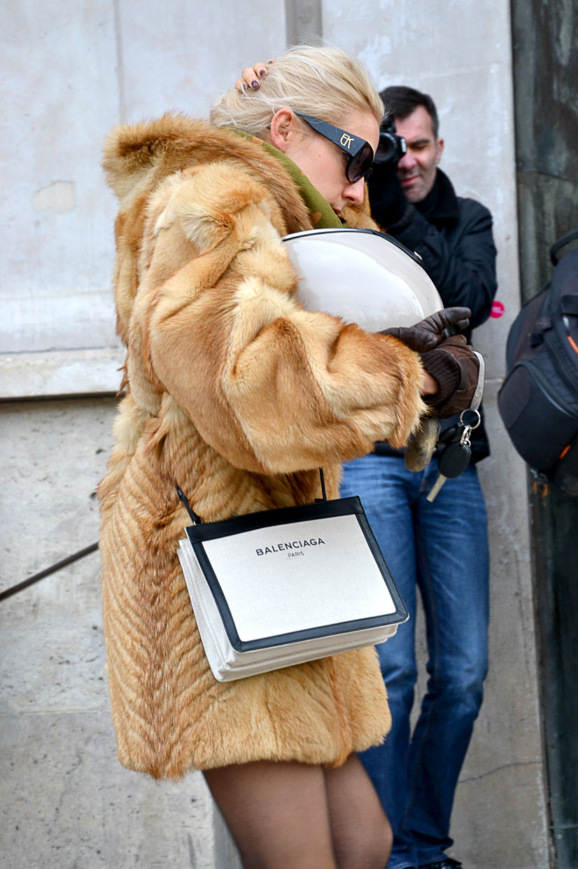 Fur Girl on Avenue du Président Wilson 3, Paris, 2016 - This Is Hype, We hate Fashion, but we love the People who wear it!