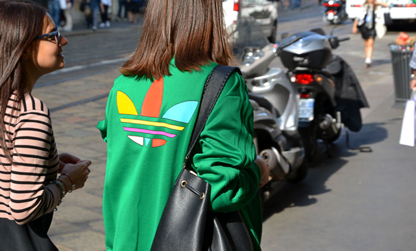 Snapped in Milan 2016, Girl in Green Adidas Tracksuit Top, This Is Hype - We hate Fashion, but we love the People who wear it!