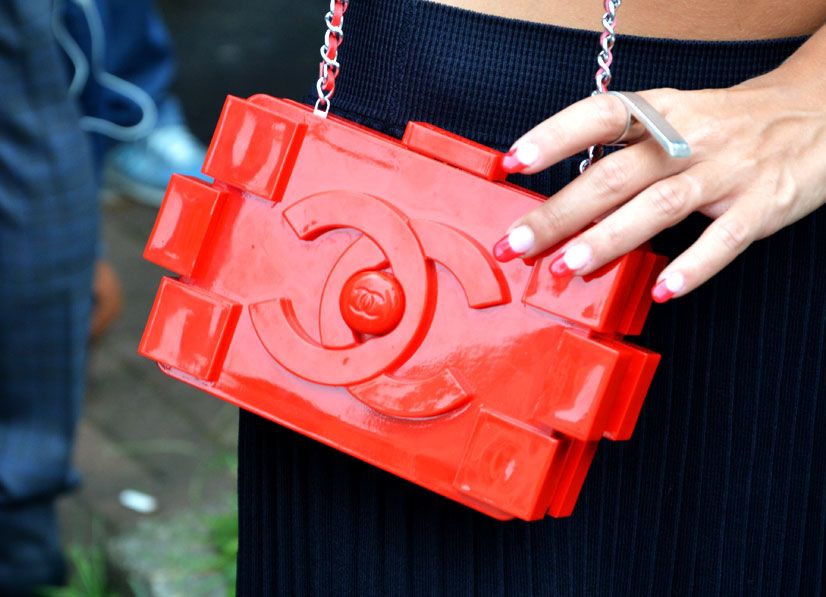 Chanel Plexiglass Lego clutch, Milan 2016, This Is Hype - We hate Fashion, but we love the People who wear it!