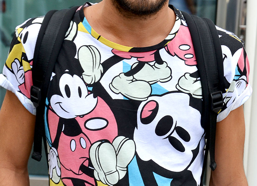 Street Hype // Milan Hugo - Mickey Mouse Details of Hugo on Via Luca Beltrami, Milan 2015, This is Hype - We hate Fashion, but we love the People who wear it!
