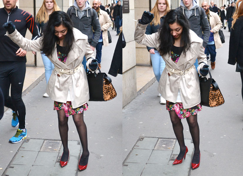 Lady stumbling on Rue Saint Honoré 1, Paris 2014, This Is Hype - We hate fashion, but we love the People who wear it!